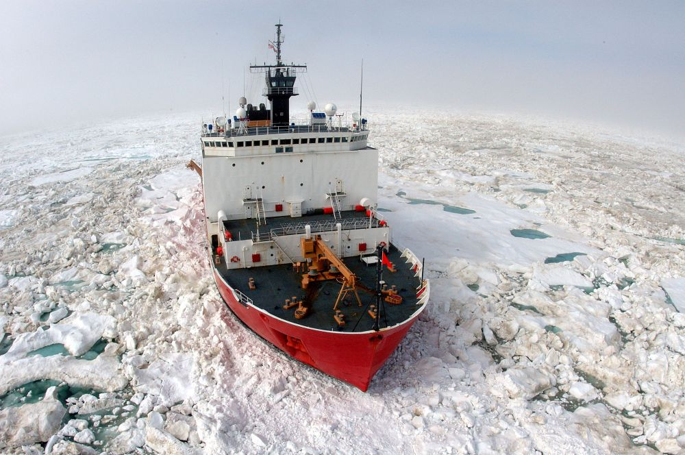 United States Coast Guard vessel near Barrow, Alaska. Photo by Coast Guard.