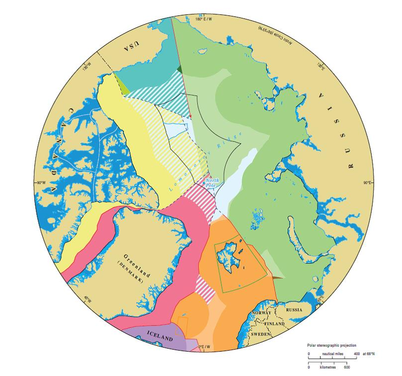 Maritime jurisdiction and boundaries in the Arctic region, IBRU.